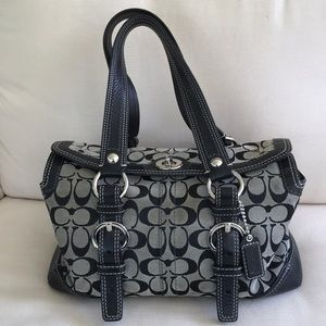 Coach Signature Bag in gray and black